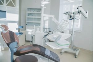 Clean, disinfected dental chair at Crown Point dentist practice