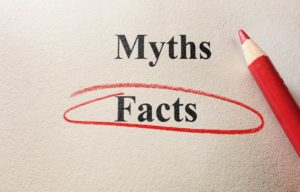 "a piece of paper that has ""Myths"" and ""Facts"" written on it, but the word ""Facts"" is circled"